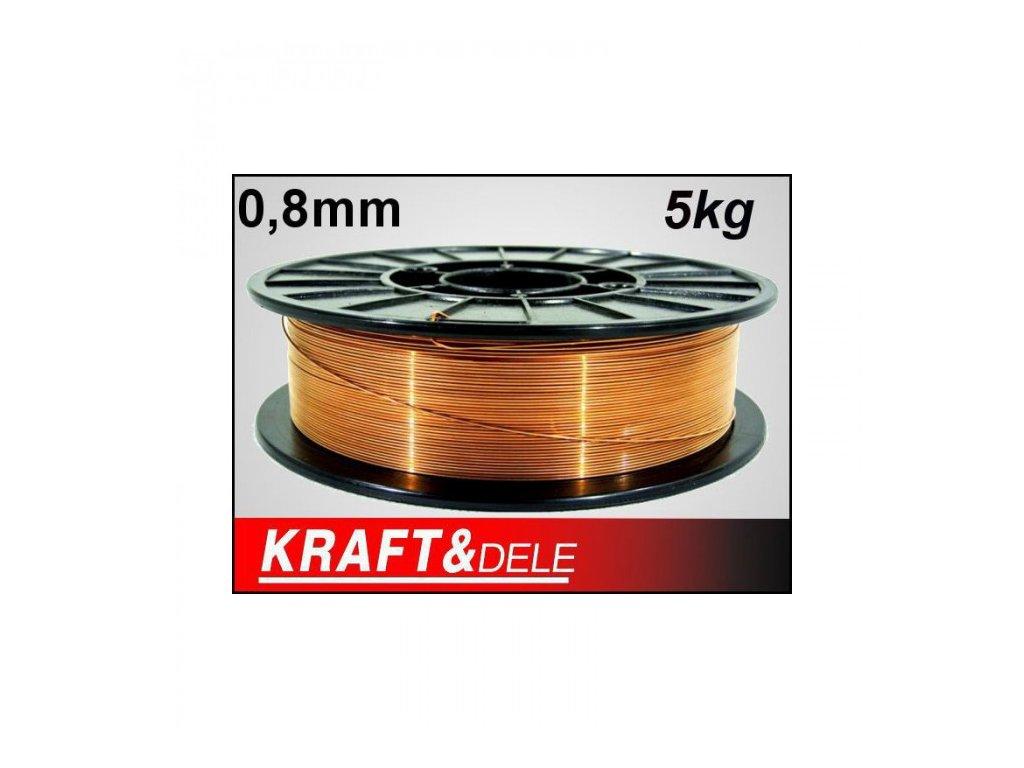 Svařovací drát 0,8mm 5kg, Kraft&Dele KD1151
