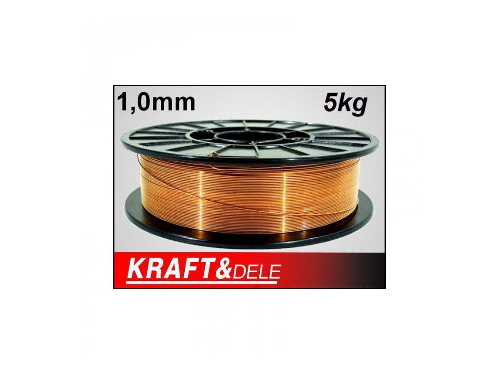 Svařovací drát 1.0mm 5kg, Kraft&Dele KD1152