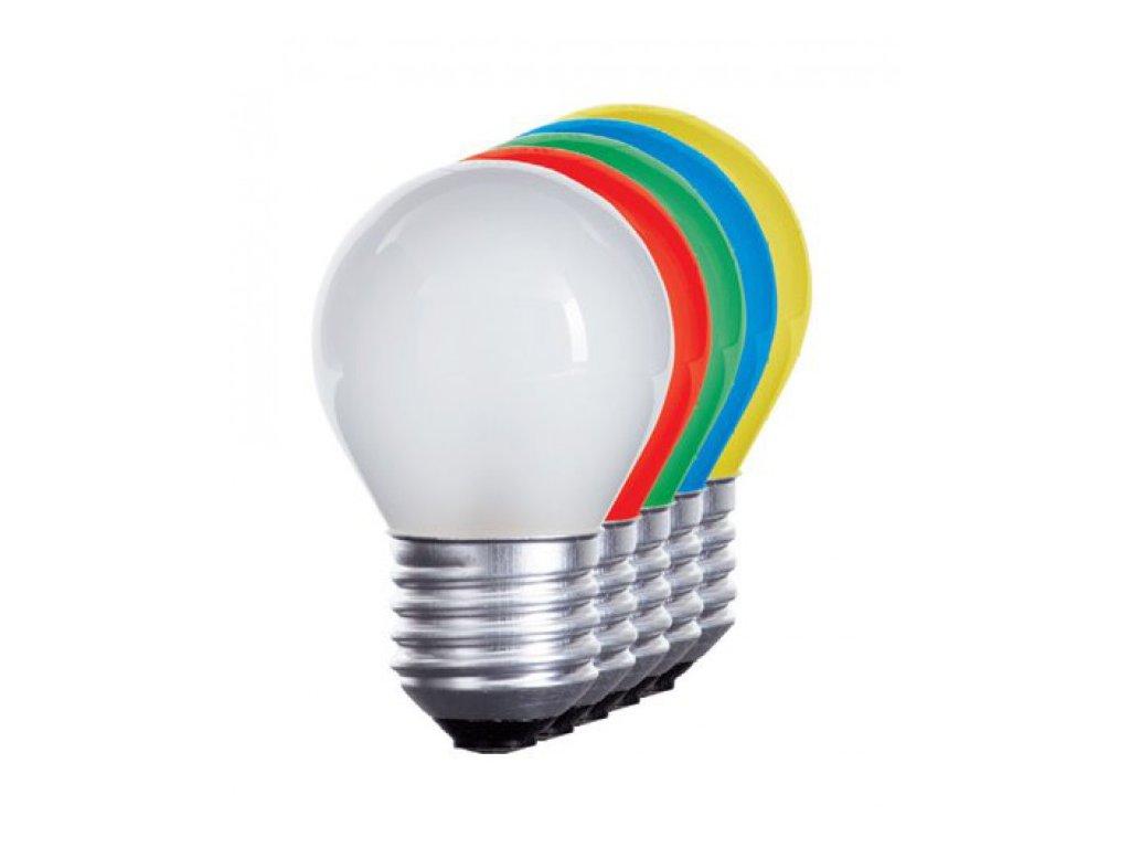LED žárovka E27 1W zelená