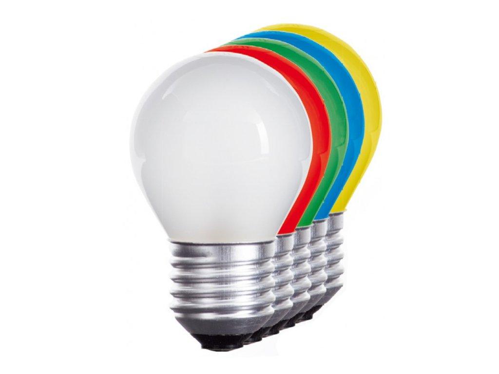 LED žárovka E27 1W žlutá