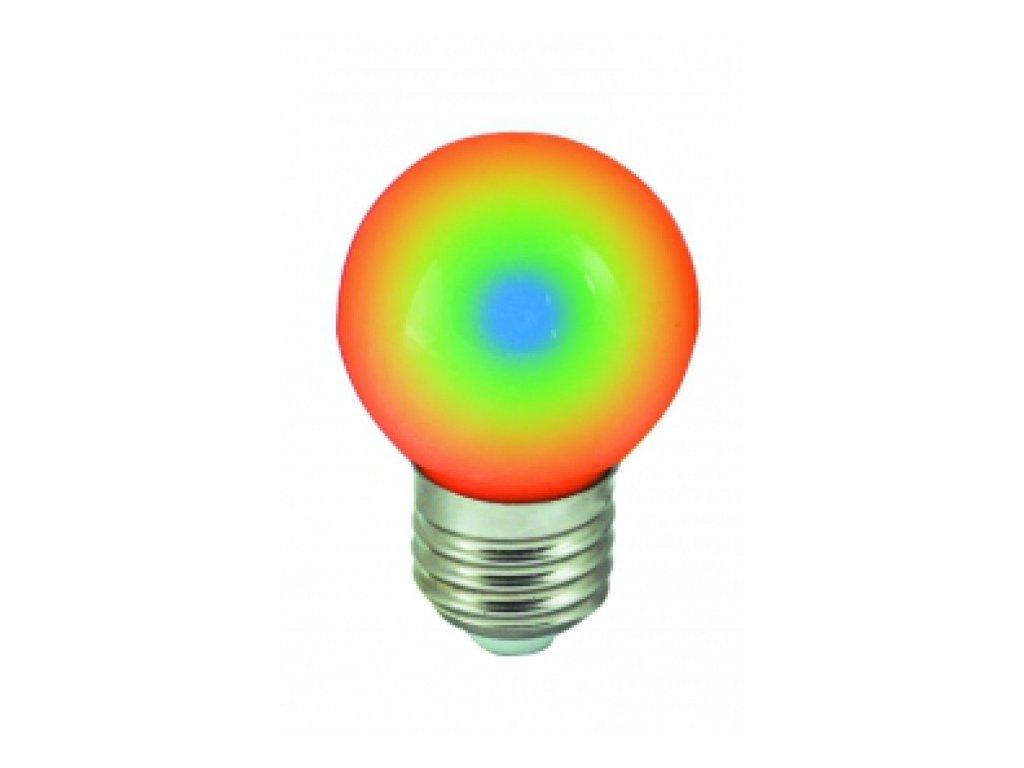 LED žárovka E27 1W RGB