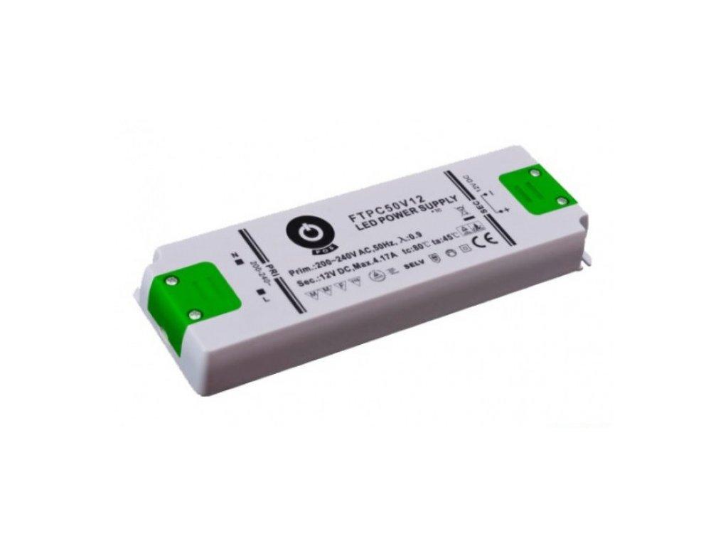 POS napěťový napájecí zdroj nábytkový 12V, 50W, 4,17A, pro LED pásky