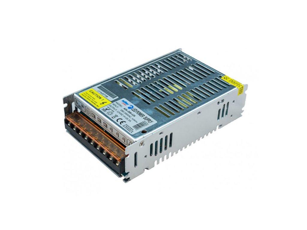 Spínaný napěťový zdroj ADLER 12V, 200W, 16,5A, IP20, pro LED pásky