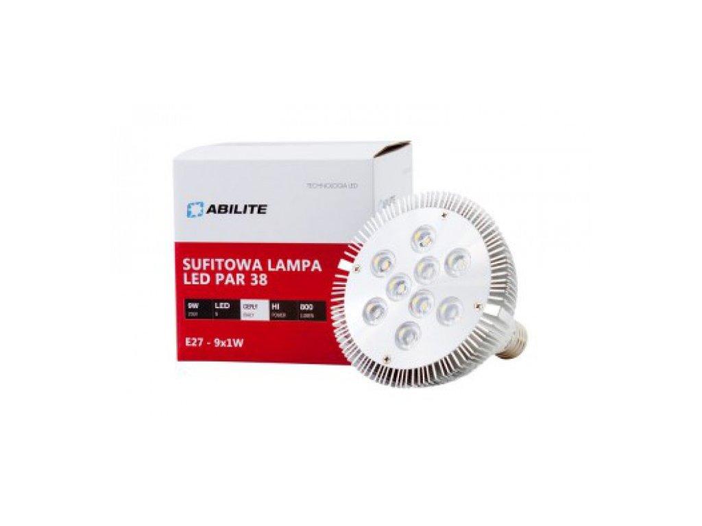 LED žárovka E27 9W 800lm PAR38 teplá bílá