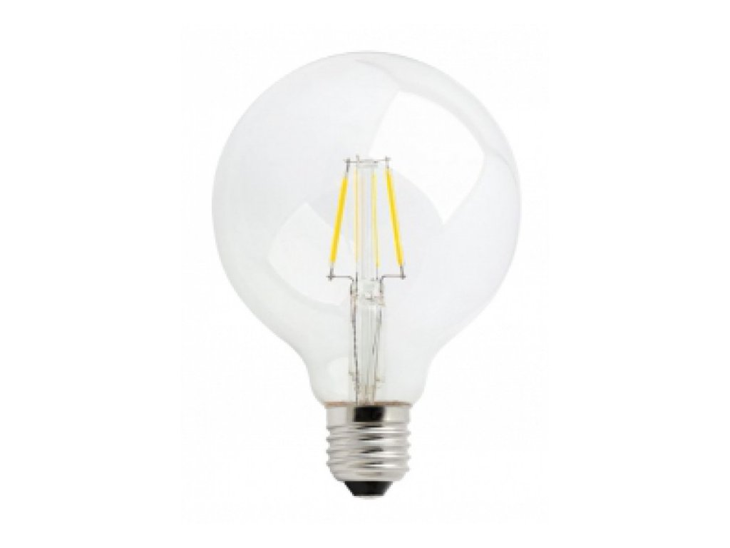 LED žárovka GLOBE E27 4W 450lm teplá bílá Filament