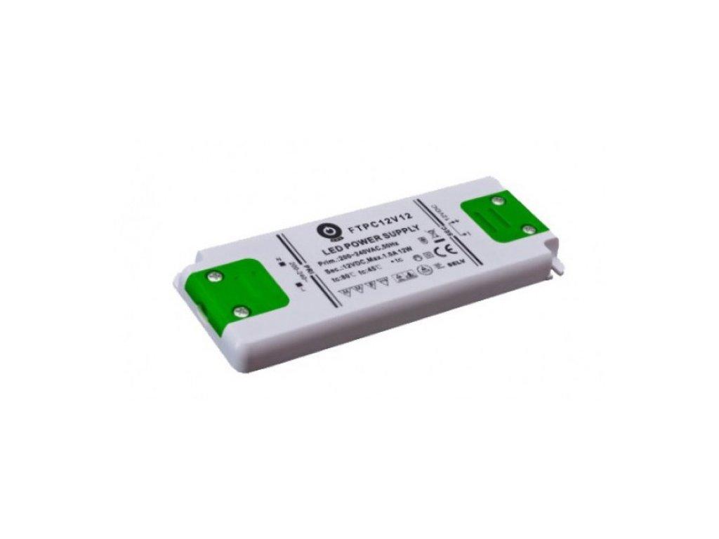 POS napěťový napájecí zdroj nábytkový 12V, 12W, 1A, pro LED pásky