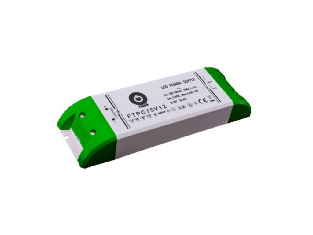 POS napěťový napájecí zdroj nábytkový 24V, 75W, 3,12A, pro LED pásky