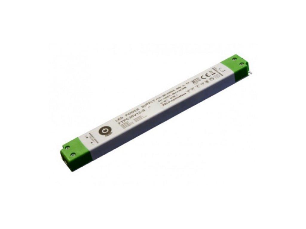 POS napěťový napájecí zdroj nábytkový 24V, 30W, 1,25A, pro LED pásky