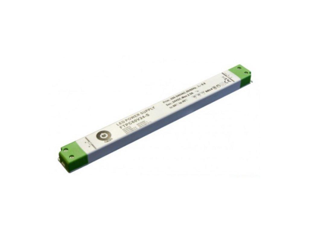 POS napěťový napájecí zdroj nábytkový 24V, 60W, 2,5A, pro LED pásky