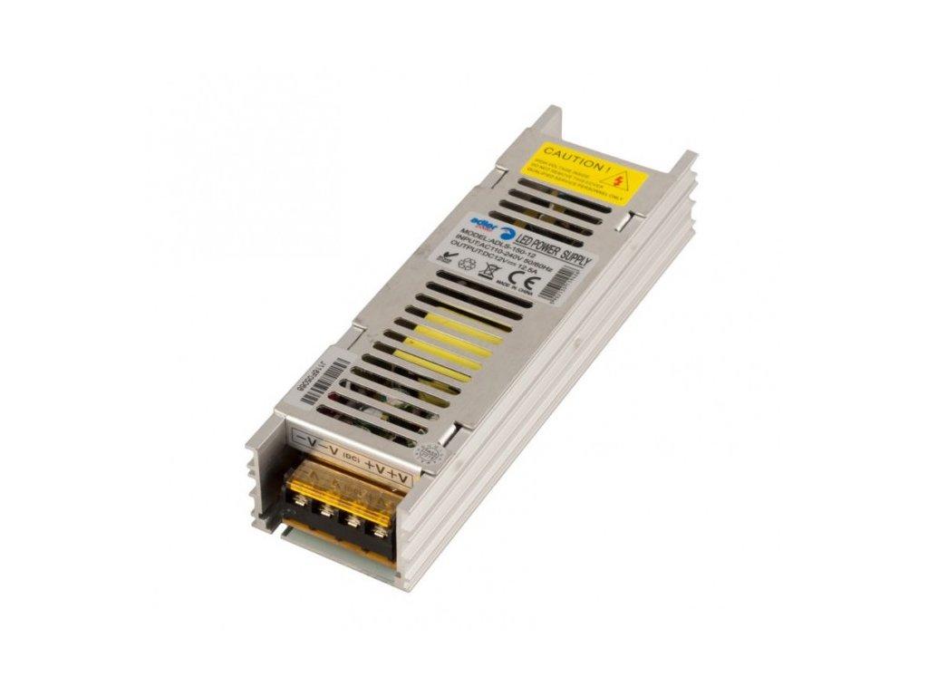 Spínaný napěťový zdroj ADLER 12V, 150W, 12,5A, IP20, pro LED pásky, provedení SLIM