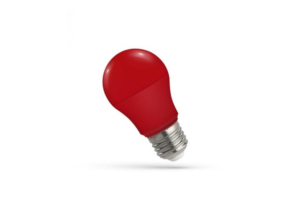 LED žárovka GLS E27 5W červená