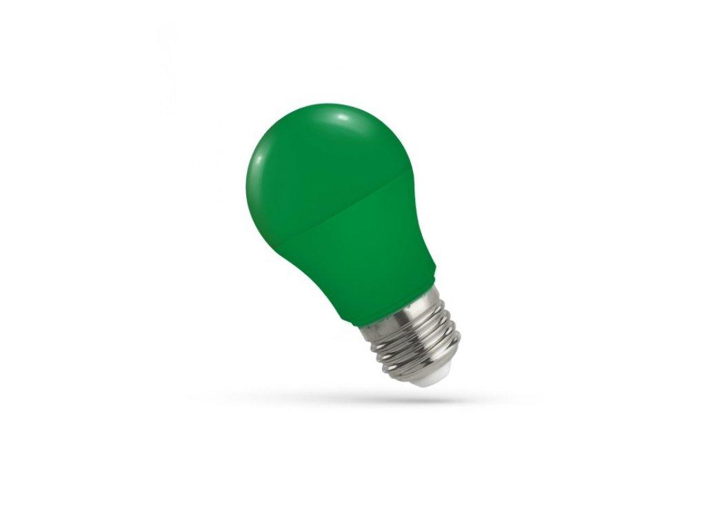 LED žárovka GLS E27 5W zelená