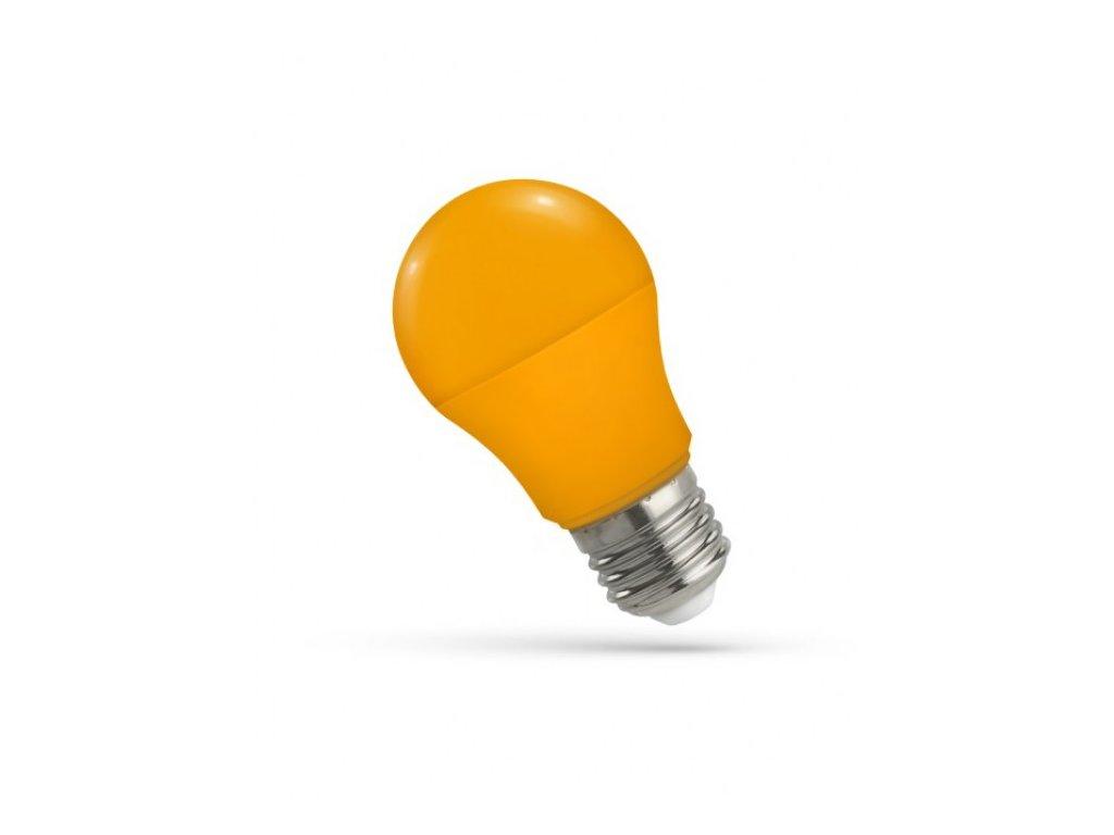 LED žárovka GLS E27 5W oranžová