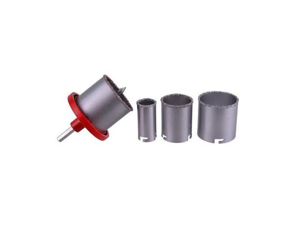 Vrtáky vykružovací s karbidovým ostřím, sada 4ks, 33-53-67-73mm, GEKO