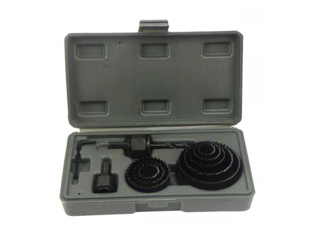 Vrtáky vykružovací korunkové, sada 11ks, 19-64mm, Kraft&Dele KD10278