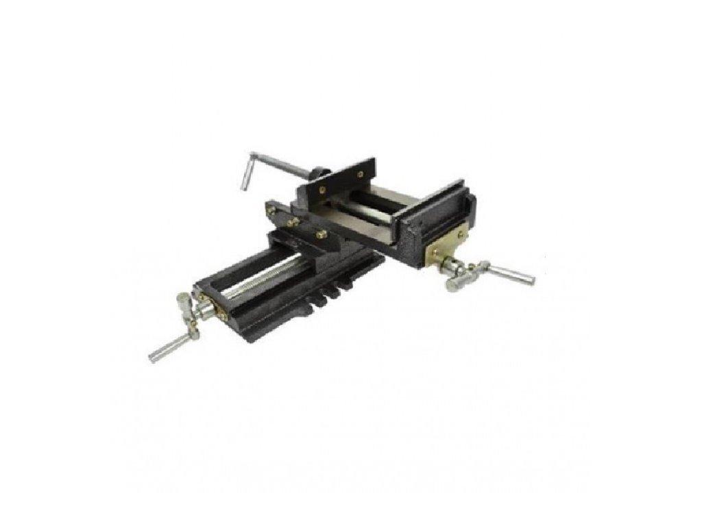 Křížový strojní dvouosý svěrák 125mm - GEKO