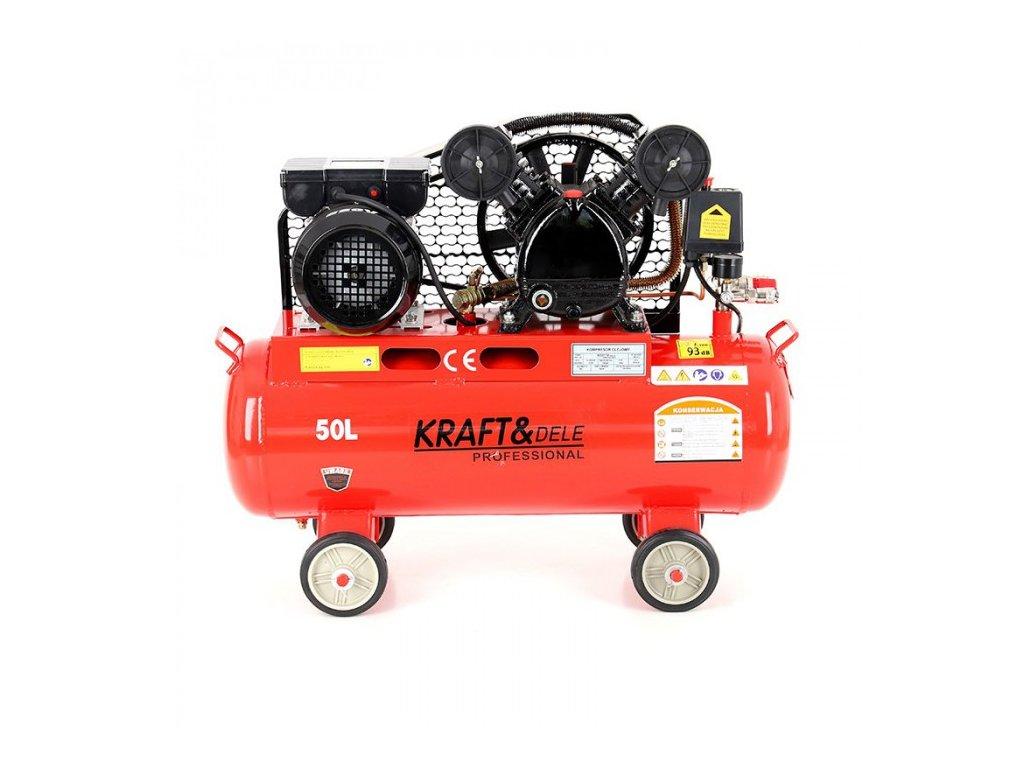 Olejový kompresor dvoupístový 50L, 2,8kW, Kraft&Dele KD403