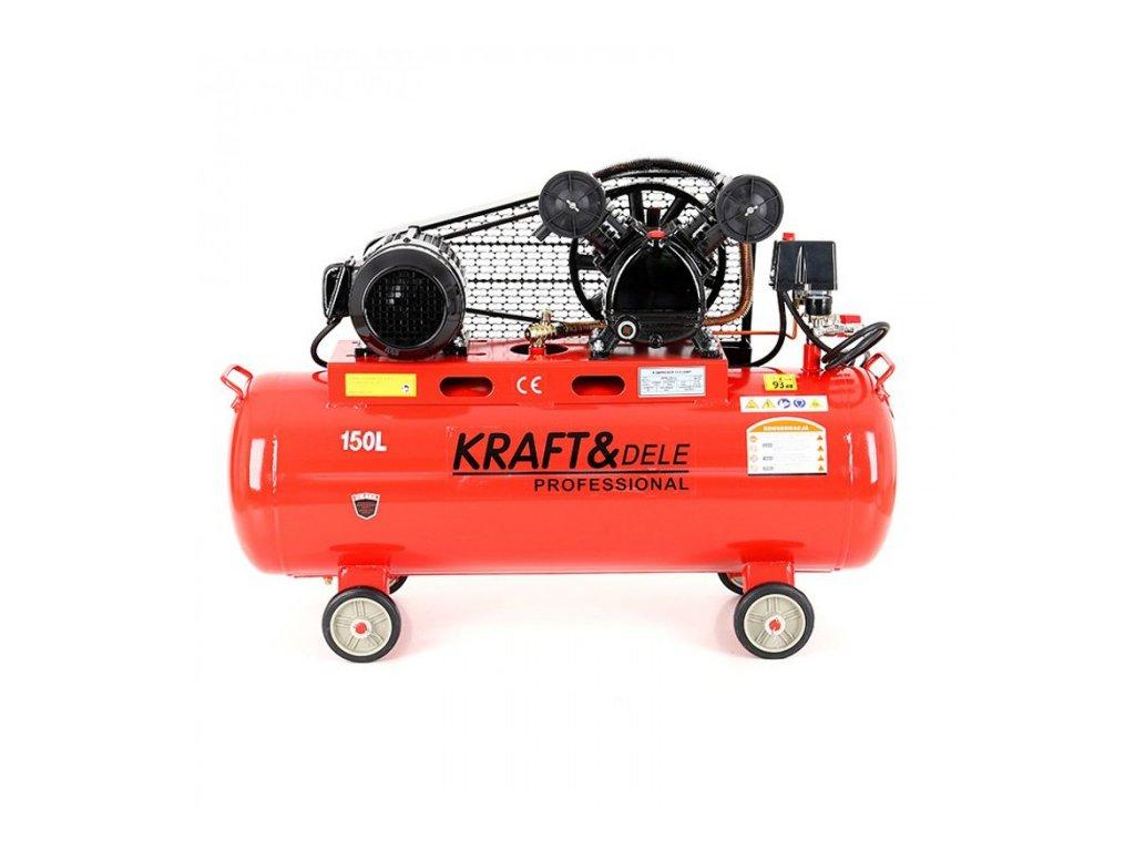 Olejový kompresor, 150l, dvoupístový, 3,8kW, Kraft&Dele KD406