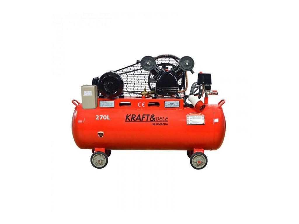 Olejový kompresor 270l, dvoupístový, 5,5kW, Kraft&Dele KD409