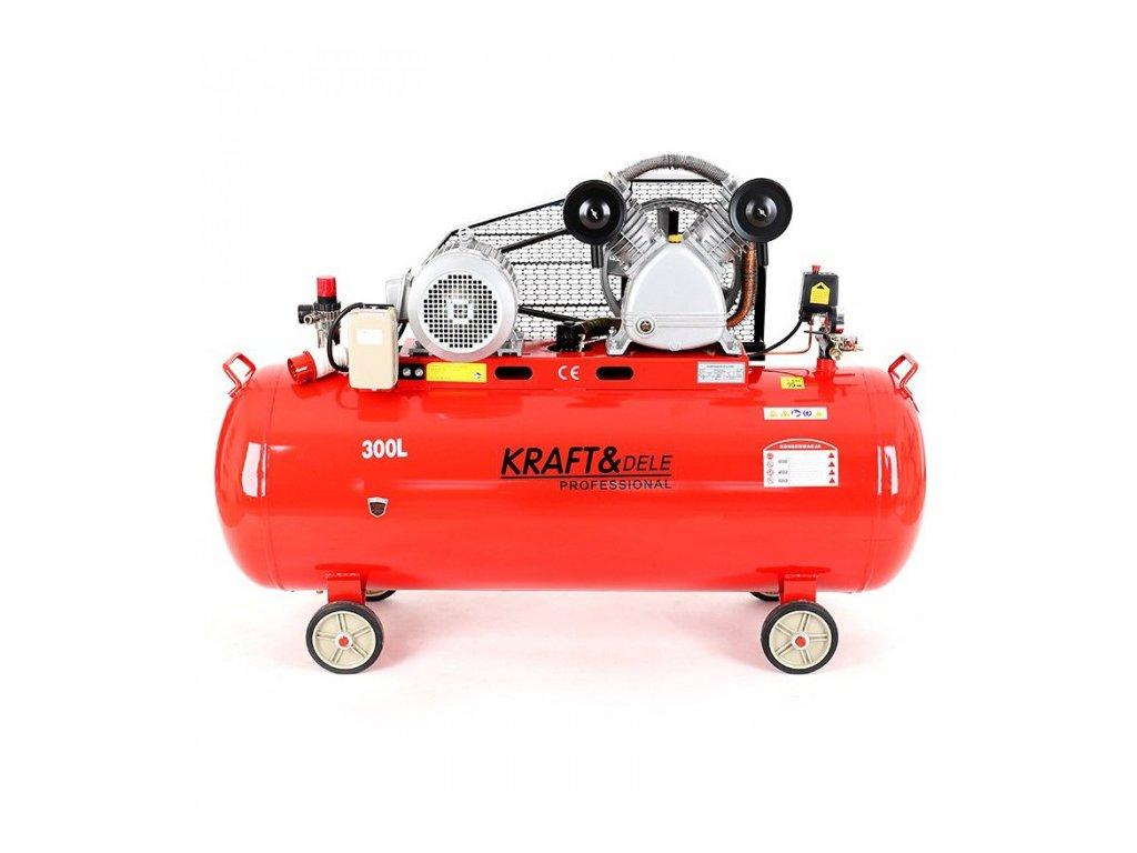 Olejový kompresor, 300l, dvoupístový, 5,5kW, Kraft&Dele KD1410