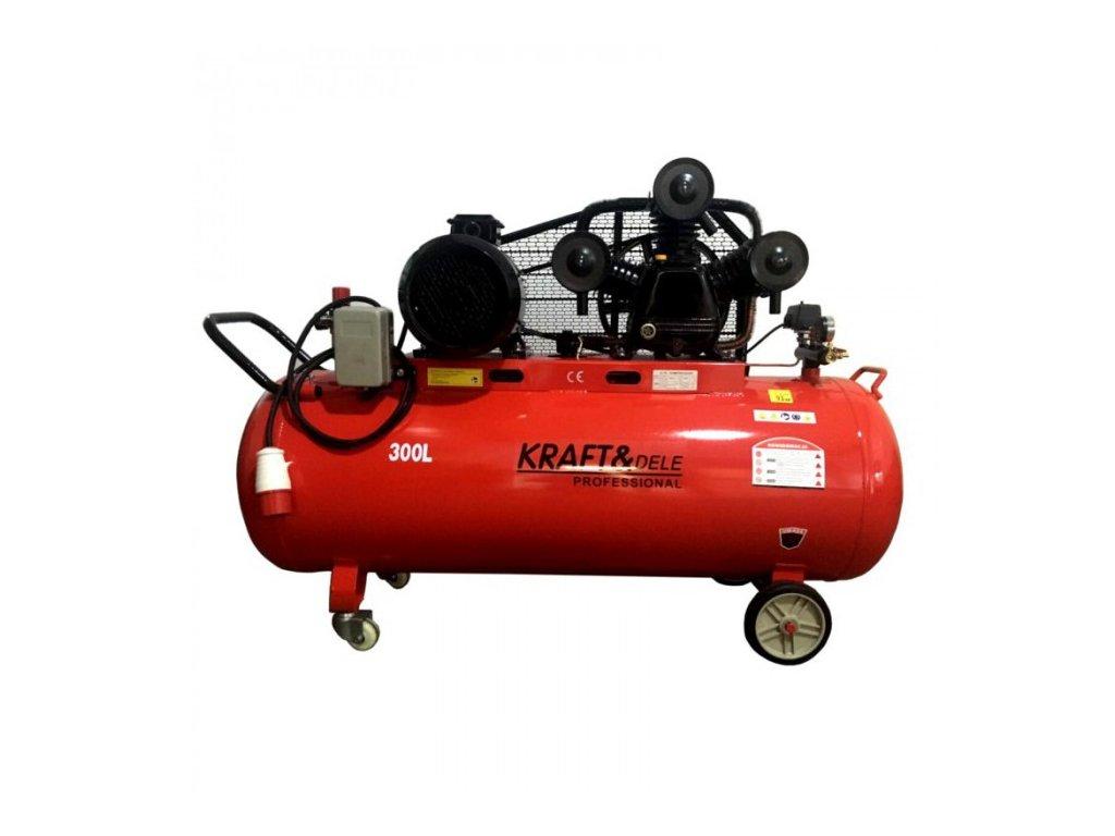 Olejový kompresor, 300l, třipístový, 9,6kW, Kraft&Dele KD1411