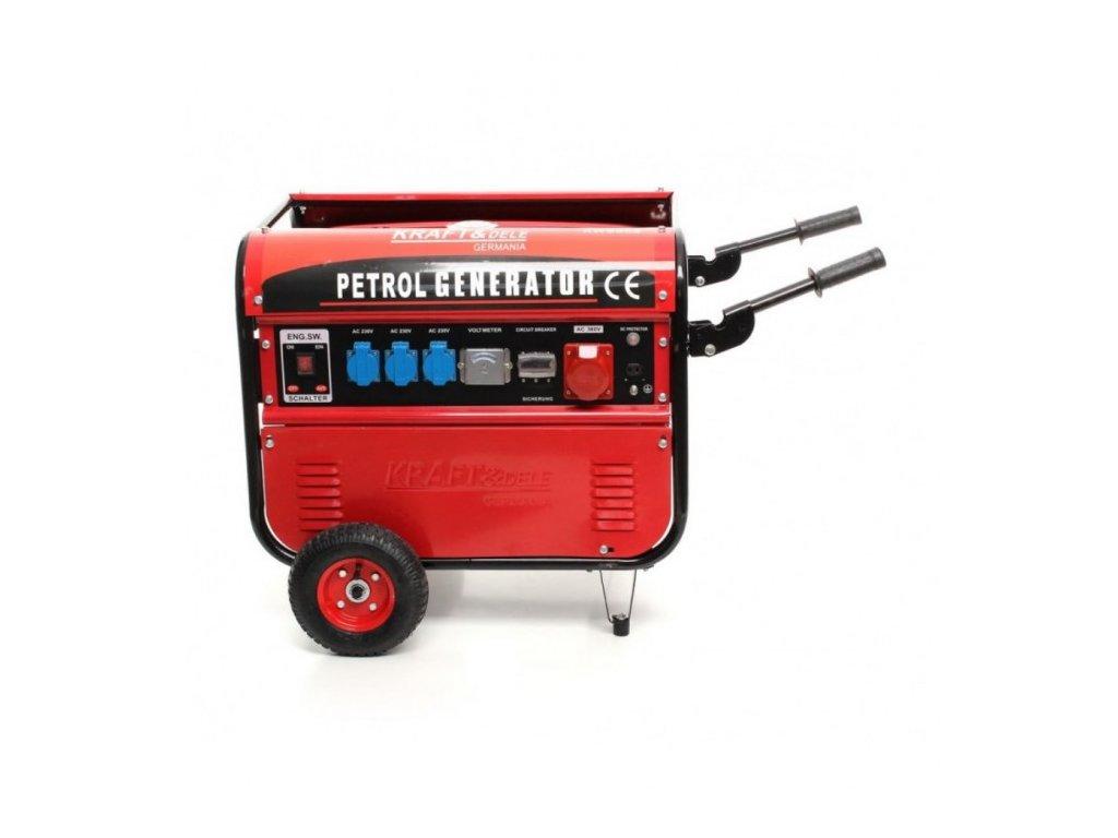 Benzínová elektrocentrála 9,6 kW / 13 HP, 5200W, Kraft&Dele KD107