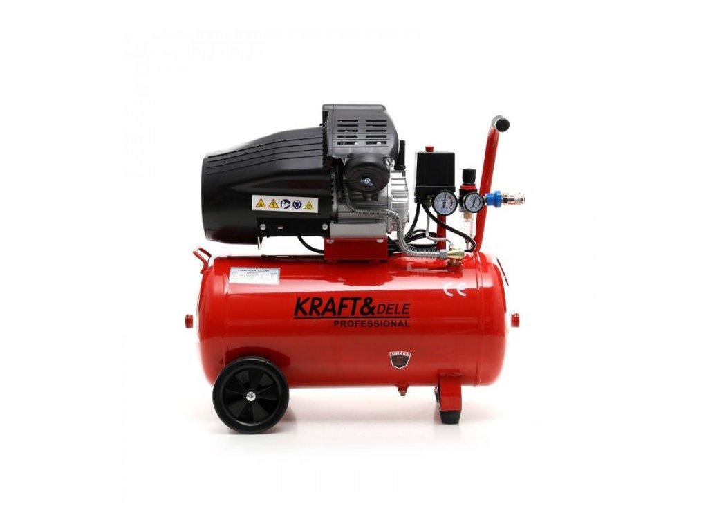 Olejový kompresor dvoupístový 50L, 3kW, Kraft&Dele KD1479
