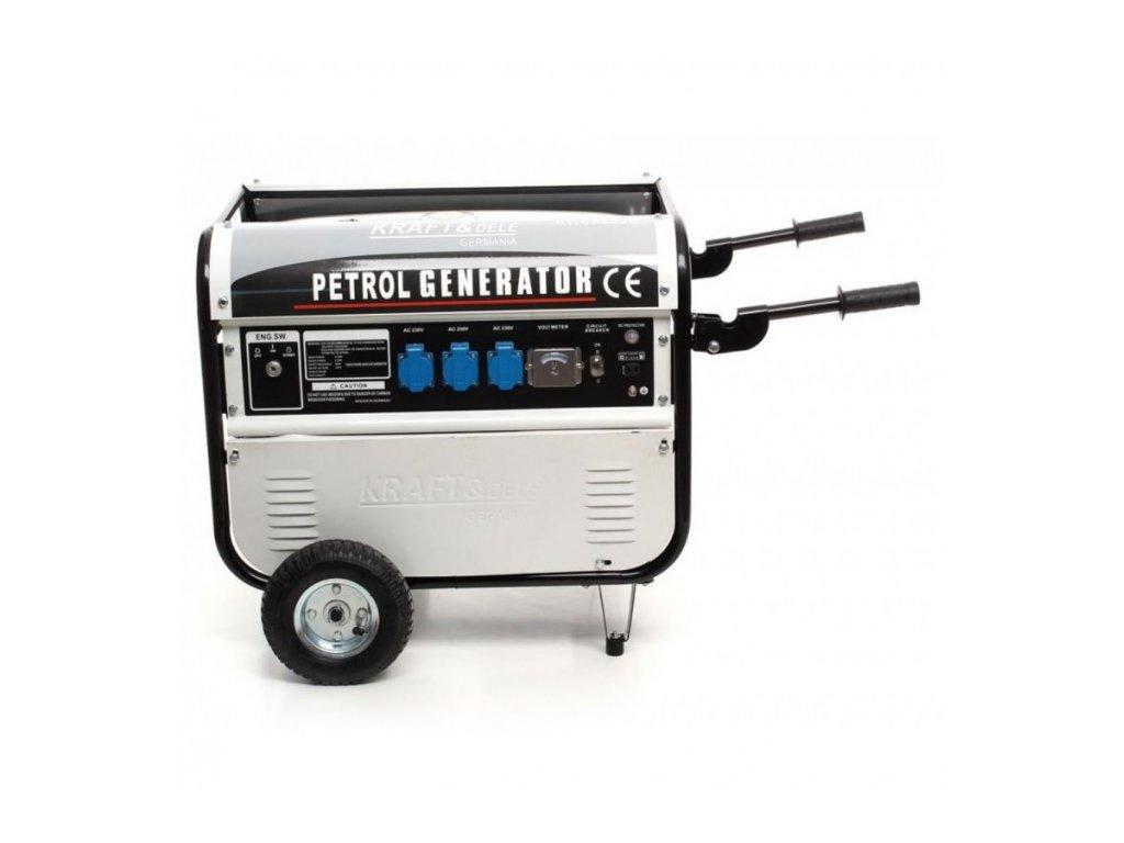 Benzínová elektrocentrála 9,6 kW / 13 HP, 5200W, Kraft&Dele KD119