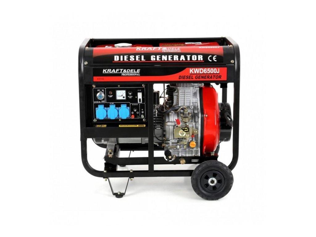 Dieselová elektrocentrála 10 kW / 13,3 HP, 6500W, Kraft&Dele KD122