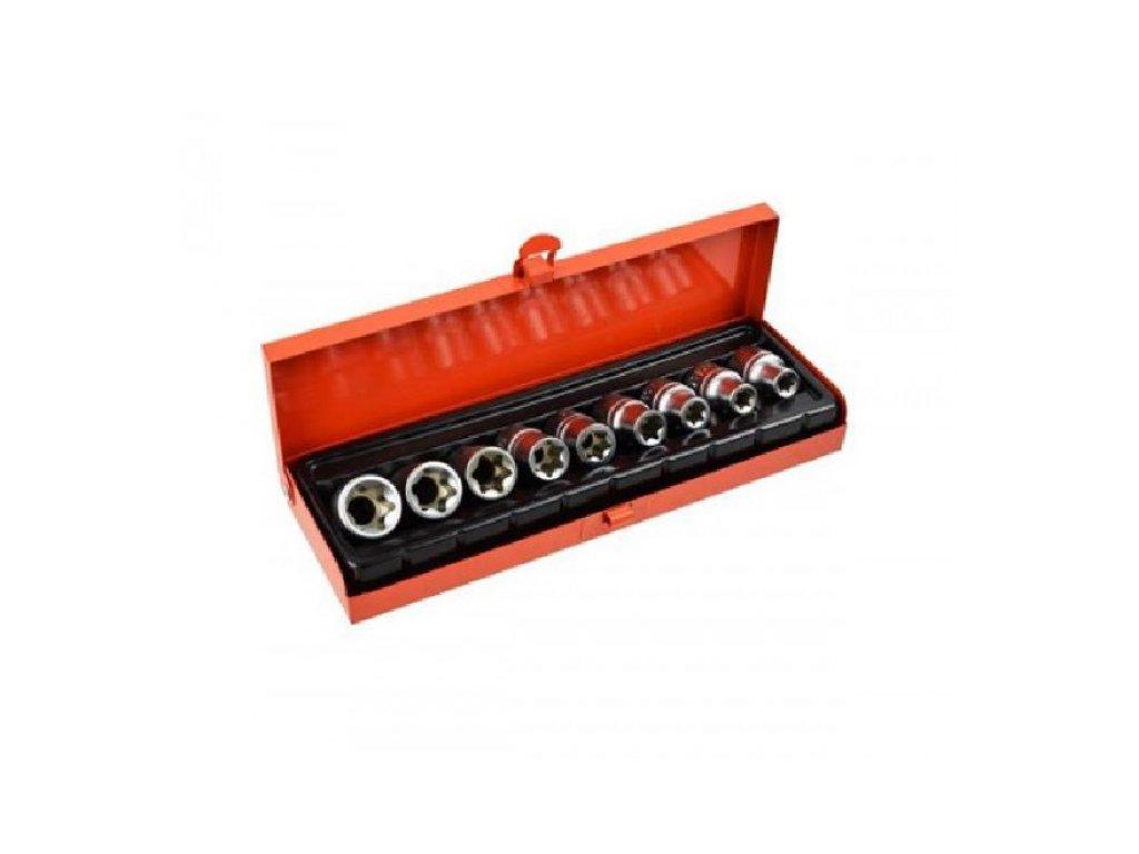 Klíče 1/2'' TORX E10-E24 nástrčné hlavice, sada 9ks