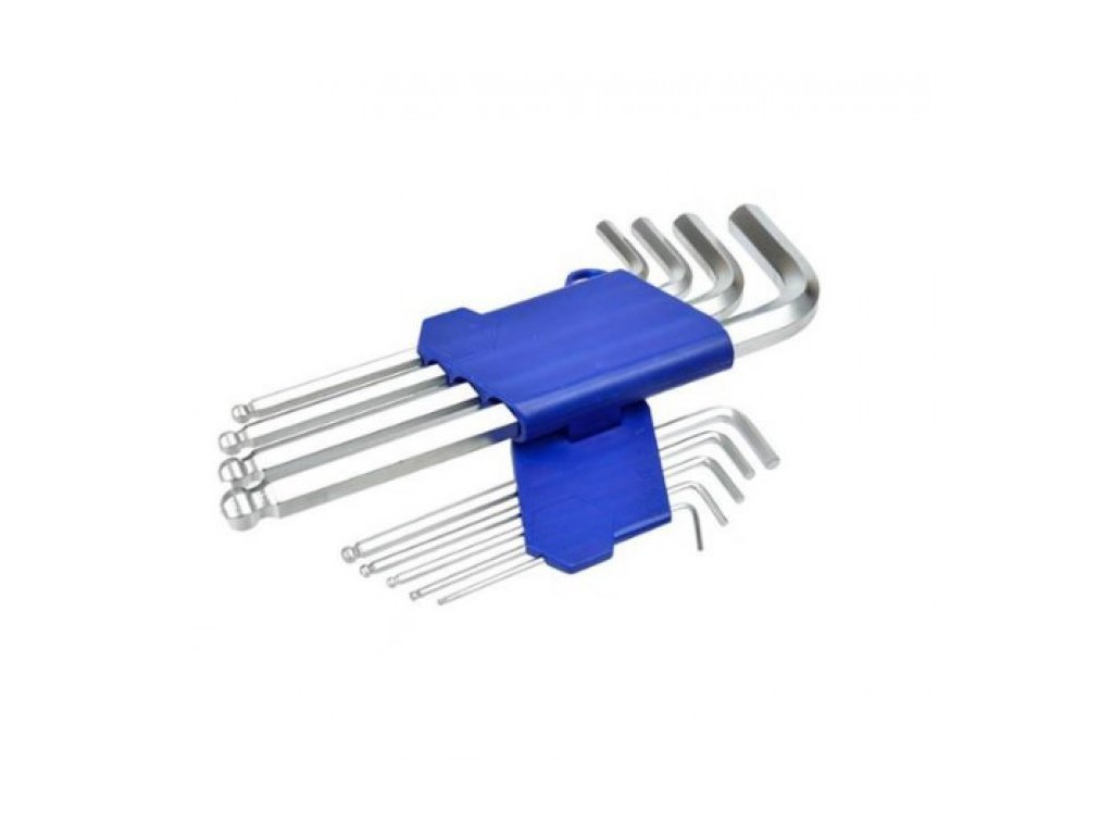 GEKO L-klíče imbus, sada 9ks, 1,5-2-2,5-3-4-5-6-8-10mm, s kuličkou, 190mm, G01704