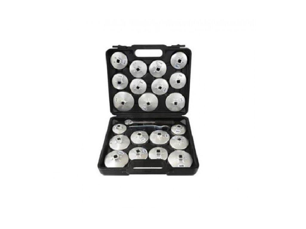 Násadkové klíče na olejové filtry s račnou 23ks, Geko G10402