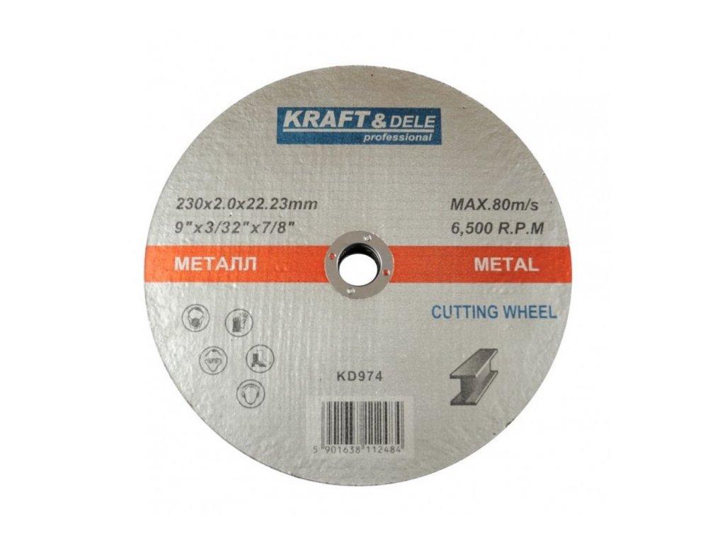 Řezný kotouč na ocel 230x2,0mm