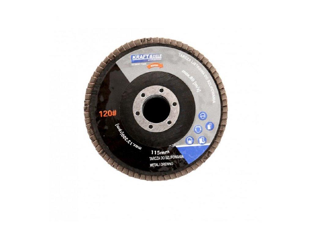 Lamelový brusný kotouč 115mm, P100