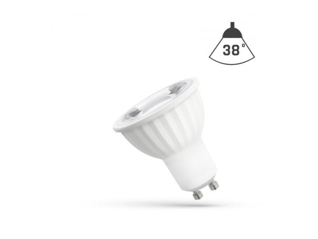 LED žárovka GU10 4W 410lm studená bílá reflektor