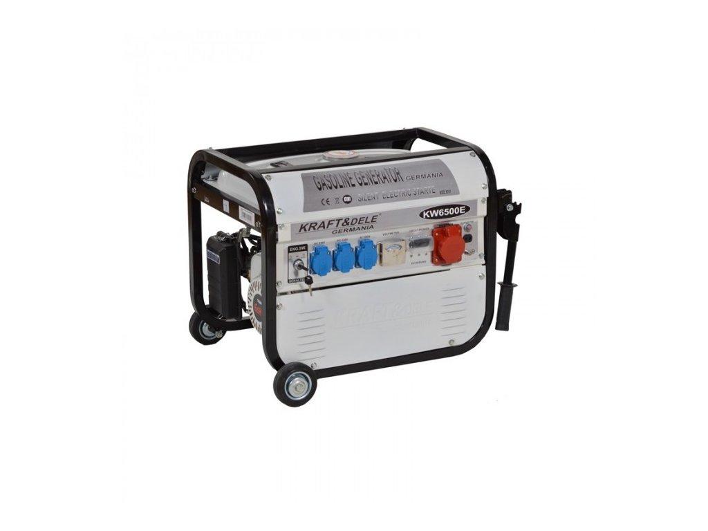 Benzínová elektrocentrála 4,8kW / 6,5HP, 2500W, 12/230/380V, KRAFT&DELE KD101