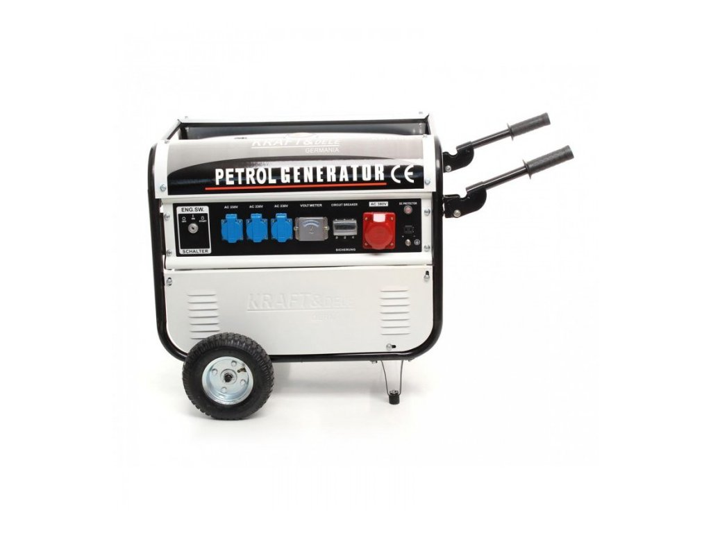 Benzínová elektrocentrála 9,6 kW / 13 HP, 5200W, 12/230/380V, Kraft&Dele KD108