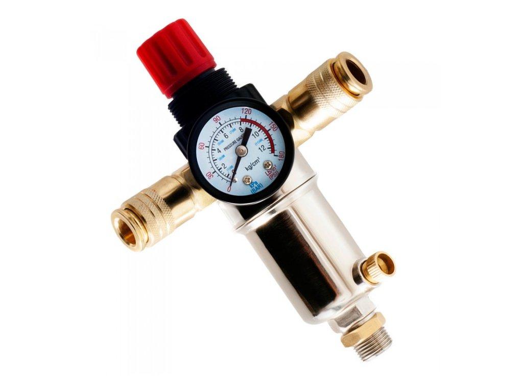 """Regulátor tlaku vzduchu se vzduchovým filtrem a odkalovačem 3/8"""", Tagred TA0001"""