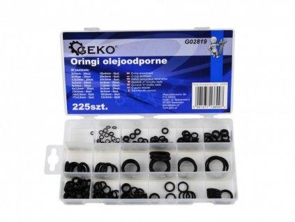 Sada O-kroužků odolných vůči oleji 225ks, Geko G02819
