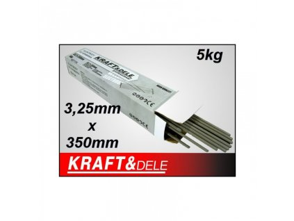 Elektrody rutilové 3,2x350mm 5kg, Kraft&Dele KD1154