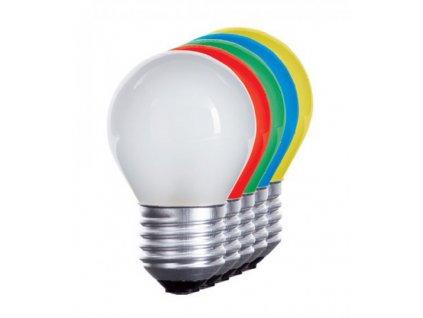 LED žárovka E27 1W modrá