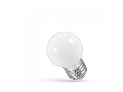 LED žárovka E27 1W studená bílá