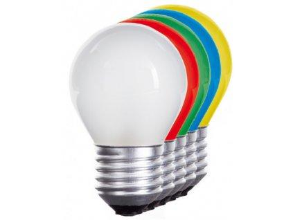 LED žárovka E27 1W červená