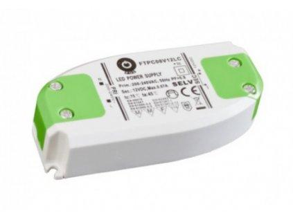 POS napěťový napájecí zdroj nábytkový 12V, 8W, 0,67A, pro LED pásky