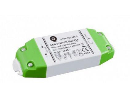 POS napěťový napájecí zdroj nábytkový 12V, 15W, 1,25A, pro LED pásky