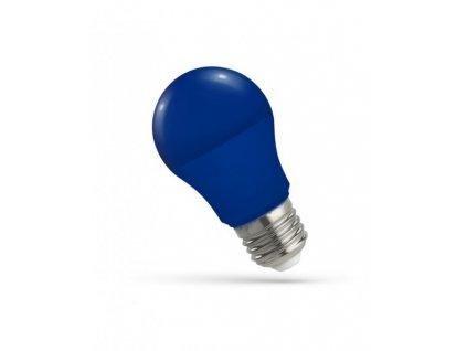 LED žárovka GLS E27 5W modrá