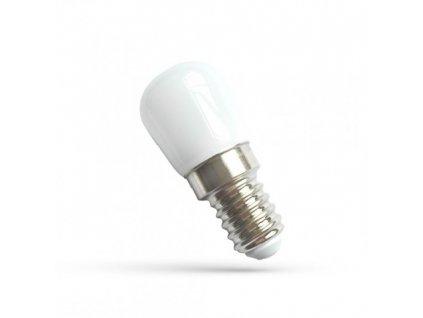LED žárovka E14 2W studená bílá, lednička, digestoř