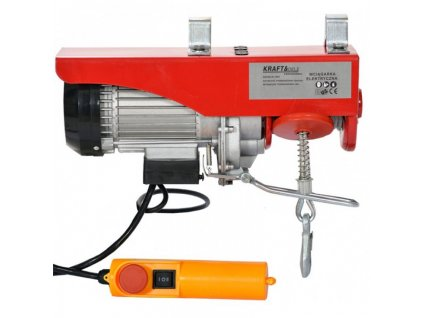 Elektrický lanový naviják 230V 400/800kg, Kraft&Dele KD1526