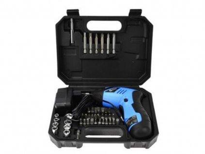 Aku šroubovák 3,6V s příslušenstvím v kufru GEKO, G80280