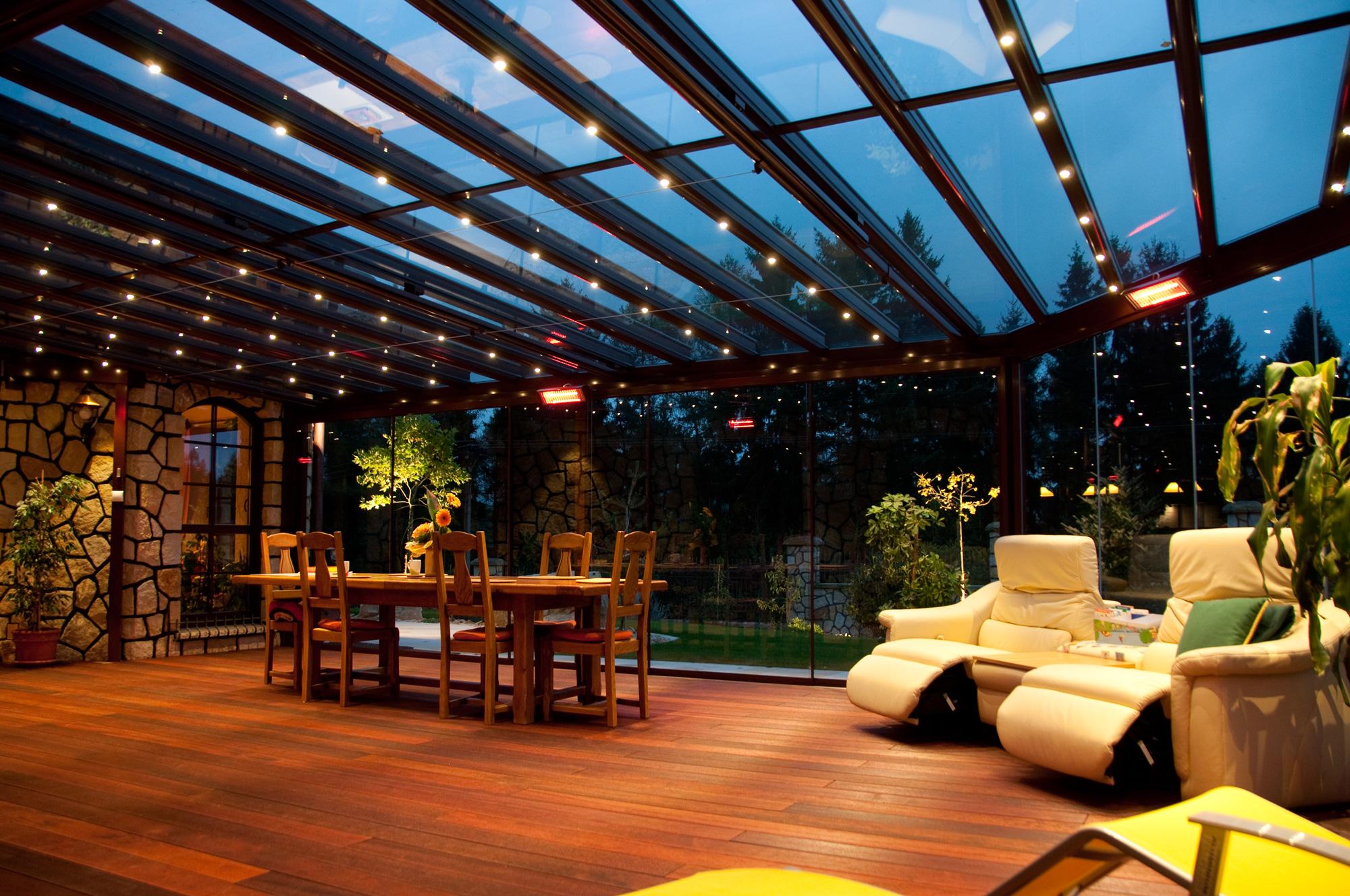 Osvětlení terasy, zahrady či balkónu